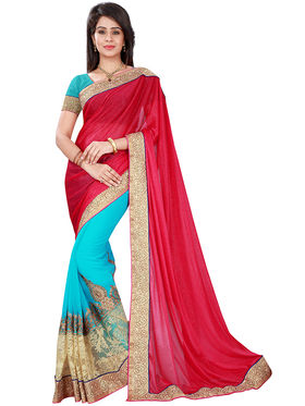 Florence Chiffon & Lycra  Embroidered  Sarees FL-11015