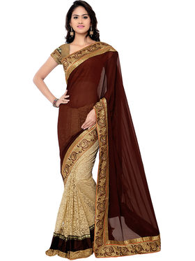 Florence Embroidered  Velvet Sarees -FL-11207