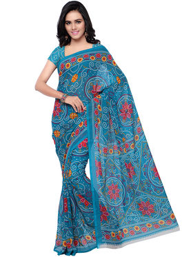 Florence Faux Georgette Printed  Sarees -FL-11212