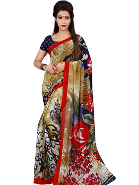 Florence Printed Faux Georgette Sarees FL-11744