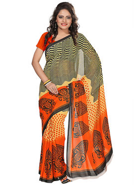 Florence Faux Georgette  Printed  Sarees FL-3183-B