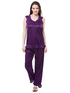 Pack of 6 Fasense Satin Plain Nightwear - DP114 E