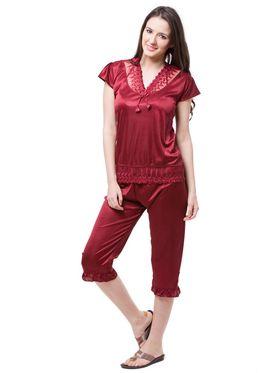 Pack of 6 Fasense Satin Plain Nightwear - DP115 A
