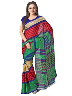 Pack of 5 Florence Printed Faux Georgette Saree-FL_ 5_6