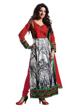 Florence Cotton Embroidered Dress Material - Multicolour - SB-1804