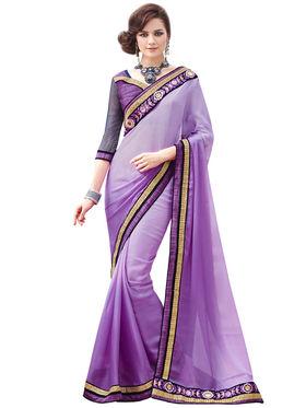 Bahubali Satin Chiffon and Satin Chiffon Embroidery Saree -GA20018