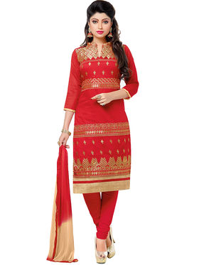 Khushali Fashion Chanderi Embroidered Dress Material -Gfblbl710012