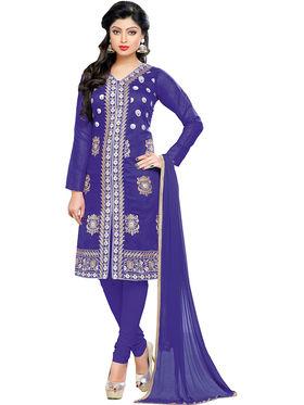 Khushali Fashion Chanderi Embroidered Dress Material -Gfblbl710019