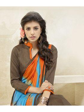 Viva N Diva Banglori Silk Patch Work Unstitched Dress Material Gazee-8004