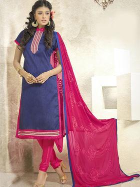 Viva N Diva Banglori Silk Patch Work Unstitched Dress Material Gazee-8005