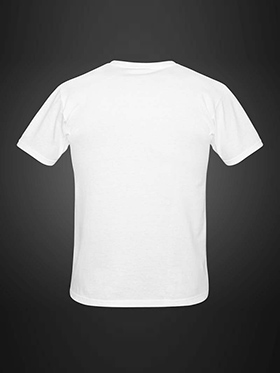 Good Karma Printed Round Neck T Shirt - White_GK T_23