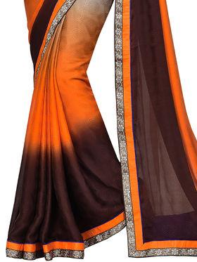 Shonaya  Embroidered  Jacquard Crepe Sarees -Hikbr-Kamsin