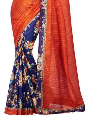 Shonaya Floral Print Bhagalpuri Art Silk Sarees -Hikml-5101
