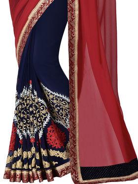 Shonaya Embroidered Georgette Sarees -Hivl2-63007