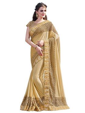 Branded Lycra Printed Saree -HT70109