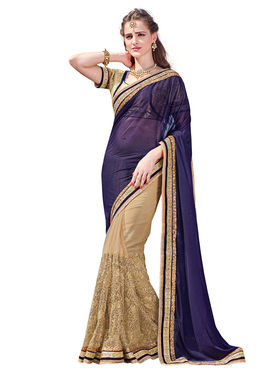 Branded shimmer Printed Saree -HT70112