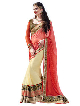 Branded Silk Jacquard Printed Saree -HT70114
