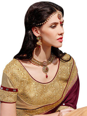 Branded Satin Chiffon Printed Saree -HT70115