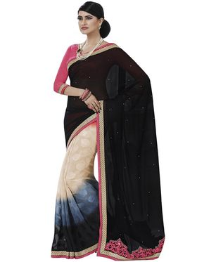 Pack of 3 Bahubali Embroidered Sarees - GAL915