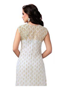 Ishin Embroidered Georgette Kurti - White_ASHR-Kaarishma