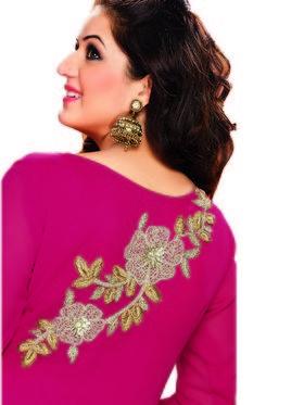 Ishin Faux Georgette Embroidered Kurti - Red-ASHR-Naavya