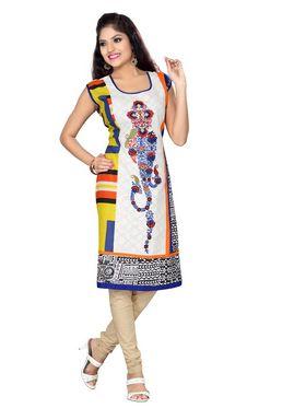 Ishin  Georgette Embroidered Kurti - Multicolour_INDSL-MONIKA