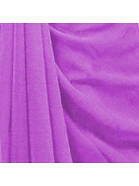 Khushali Fashion Georgette Plain Saree(Light Purple)_JAZZ517