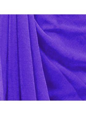 Khushali Fashion Georgette Plain Saree(Purple)_JAZZ518