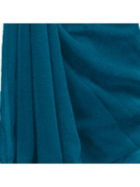 Khushali Fashion Georgette Plain Saree(Sea Blue)_JAZZ547