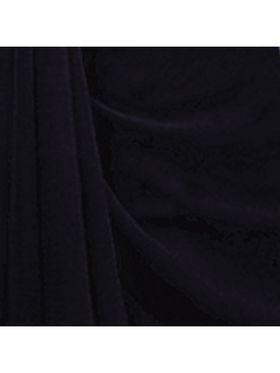 Khushali Fashion Georgette Plain Saree(Navy Blue)_JAZZ596