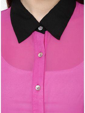 Kaxiaa Georgette Plain Womens Shirt -K-952