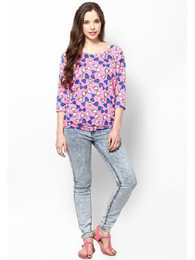 Kaxiaa Poly Viscose Printed Top -K-956C