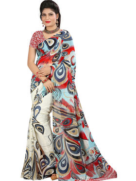 Arisha Georgette Printed Saree -Khgsstar207