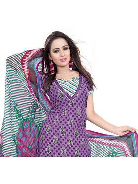 Khushali Fashion Crepe Printed Dress Material -Kpplk10005