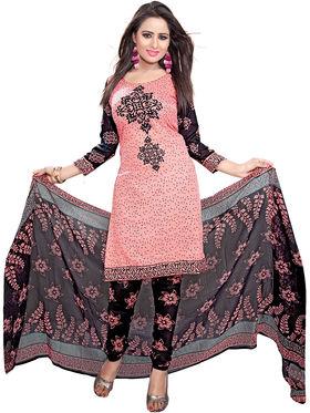 Khushali Fashion Crepe Printed Dress Material -Kpplk10007