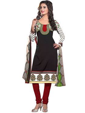 Khushali Fashion Crepe Printed Dress Material -Kpplpl8001