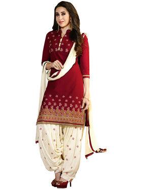 Khushali Fashion Cotton Embroidered Unstitched Dress Material -KRSH4352