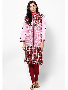 Arisha Cotton Printed Kurti KRT6018-Pnk