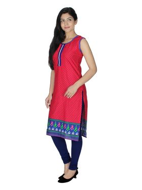 Sai Arisha Solid Cotton Kurti -ars52