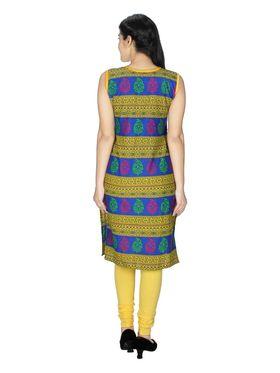 Sai Arisha Solid Cotton Kurti -ars67