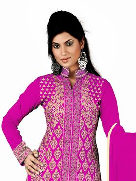 Khushali Fashion Georgette Embroidered Unstitched Dress Material -KY4003