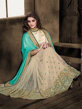 Viva N Diva Net Floral Embroidery Saree -Kalki-03-3005