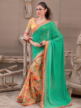 Viva N Diva Georgette Printed Saree Kanvi-2257