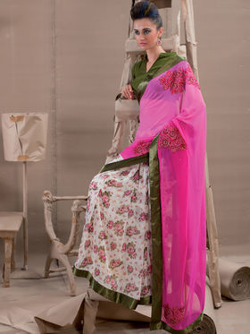 Viva N Diva Georgette Embroidered Saree Kanvi-2260