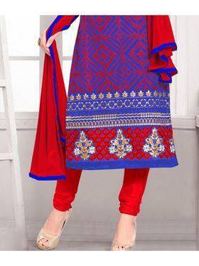 Viva N Diva Semi Stitched Georgette Embroidered Suit Kesa-16