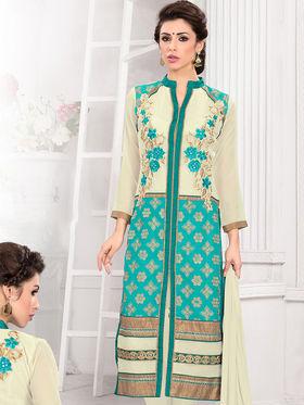 Viva N Diva Semi Stitched Georgette Embroidered Suit Kesa-21