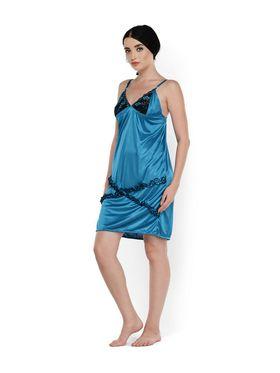 Set of 2 Klamotten Satin Solid Nightwear - X03-100
