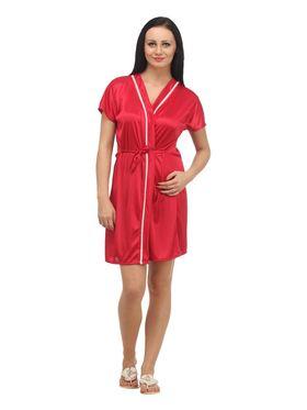 Set of 4 Klamotten Satin Solid Nightwear - X04-06-13-99