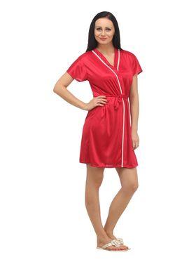 Set of 4 Klamotten Satin Solid Nightwear - X04-06-14-N64