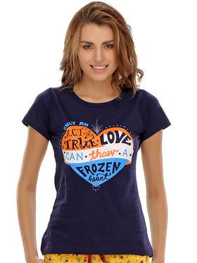 Clovia Cotton Printed T-Shirt -LT0020P08